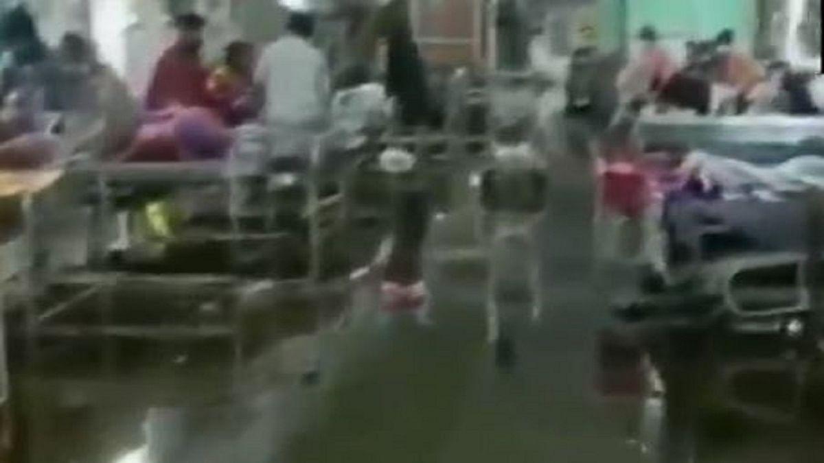 COVID patients hit as Bihar hospital waterlogged