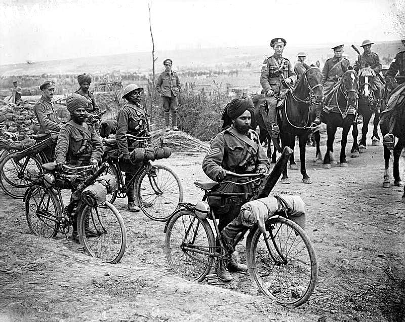 Indian soldiers during the WWI