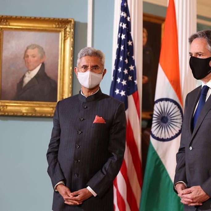 S. Jaishankar with US Secretary of State Antony Blinken