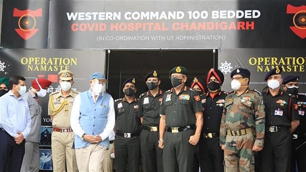 Army sets up 100-bed hospital dedicated to COVID-19 patients in Chandigarh