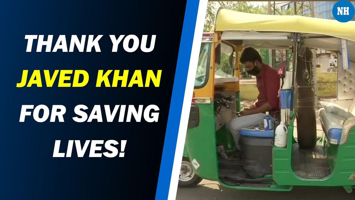 Man Converts Auto-Rickshaw Into Free Ambulance, Installs Oxygen Cylinder