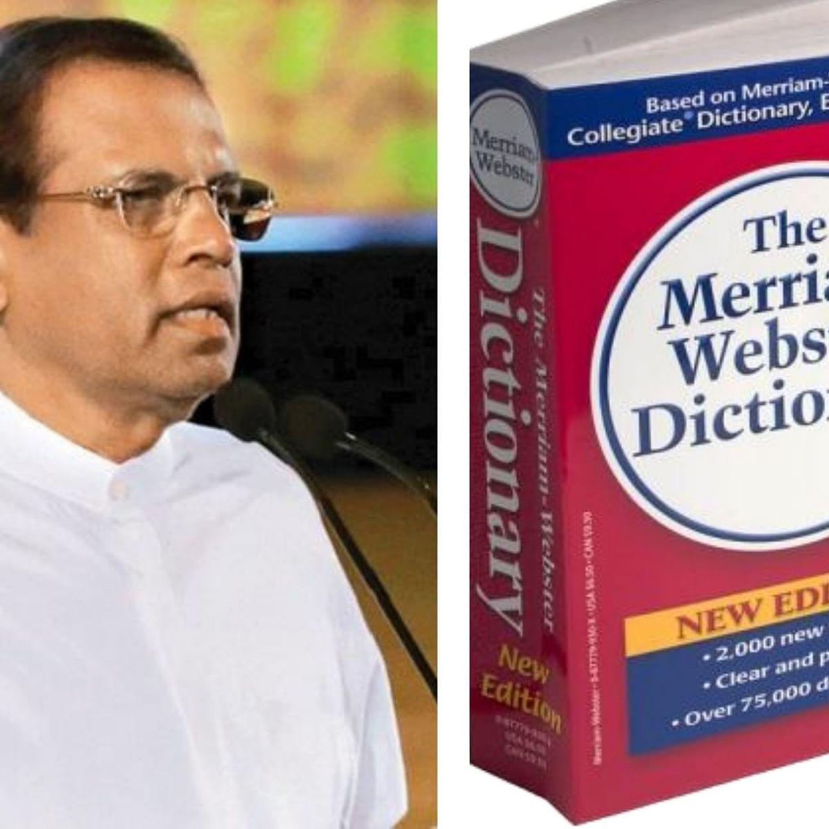 Former Sri Lankan President Maithripala Sirisena's wife was addressed as M.R.S Sirisena instead of Mrs Sirisena by PM Modi in 2015 in a huge gaffe