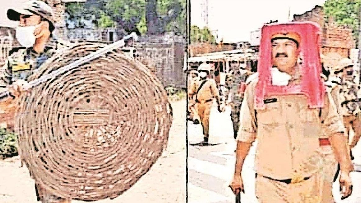 DGP orders probe as cops use chair, basket as riot gear