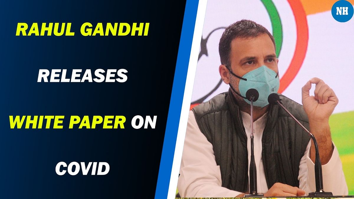 Rahul Gandhi releases White Paper on COVID, says aim is to help nation prepare for possible third wave