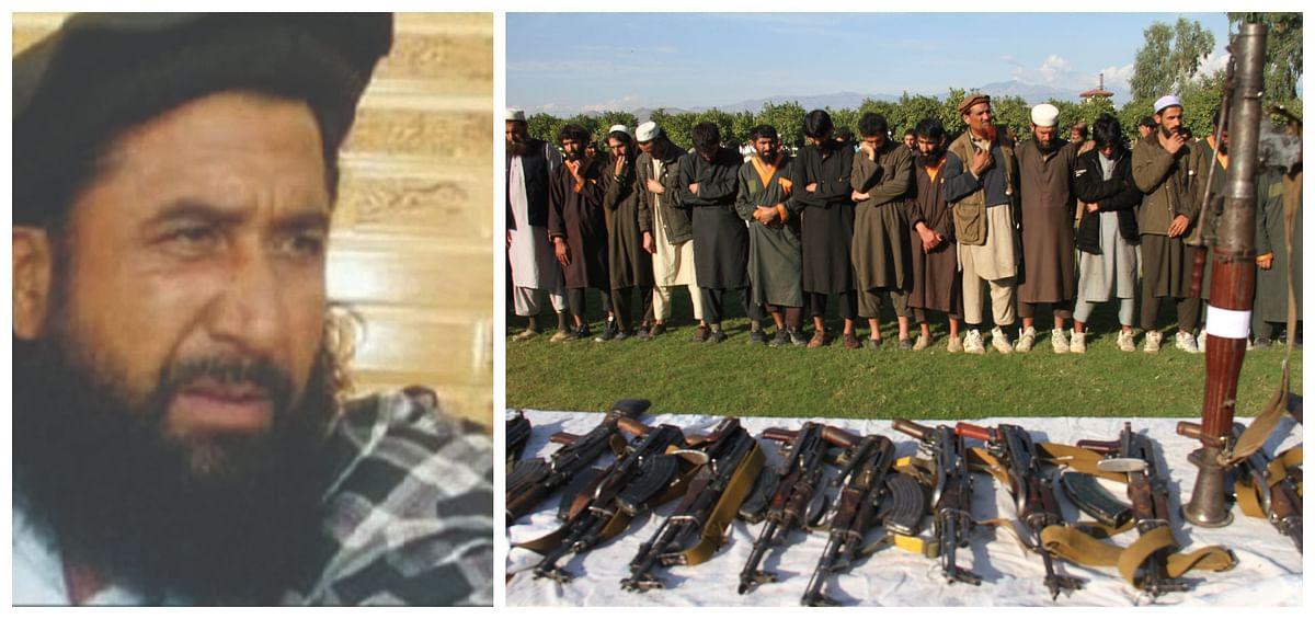 (Left) Mullah Baradar & (right) Taliban fighters