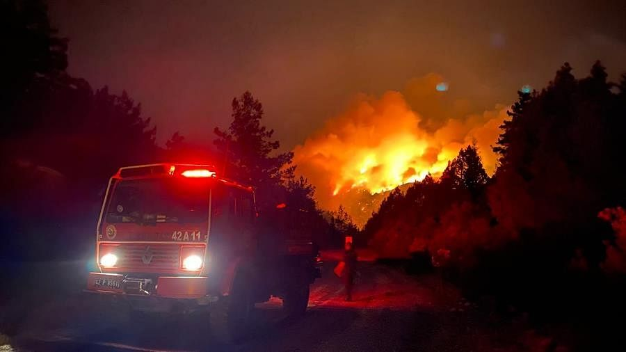 Massive forest fires in Turkey