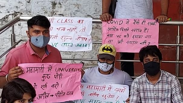 Delhi University students demand waiver of non-tuition fee during pandemic period