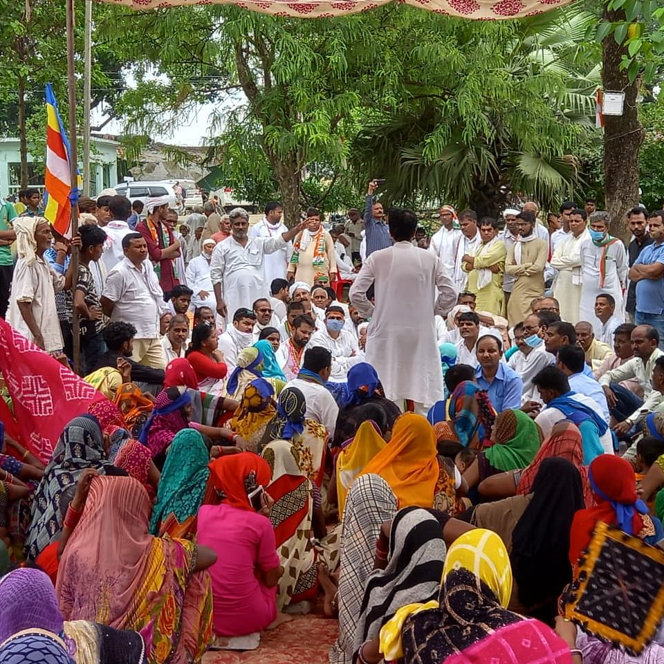 UP Police bulldozed Dalits' houses in Azamgarh, says Congress; demands compensation, action against culprits