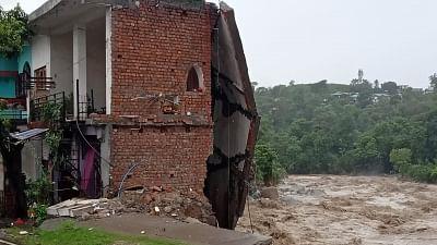 Himachal Pradesh: Cars, buildings swept away in flash floods triggered by heavy rains in Dharamsala