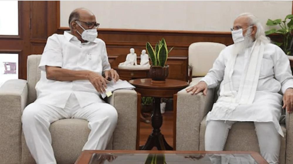 NCP chief Pawar meets PM Modi