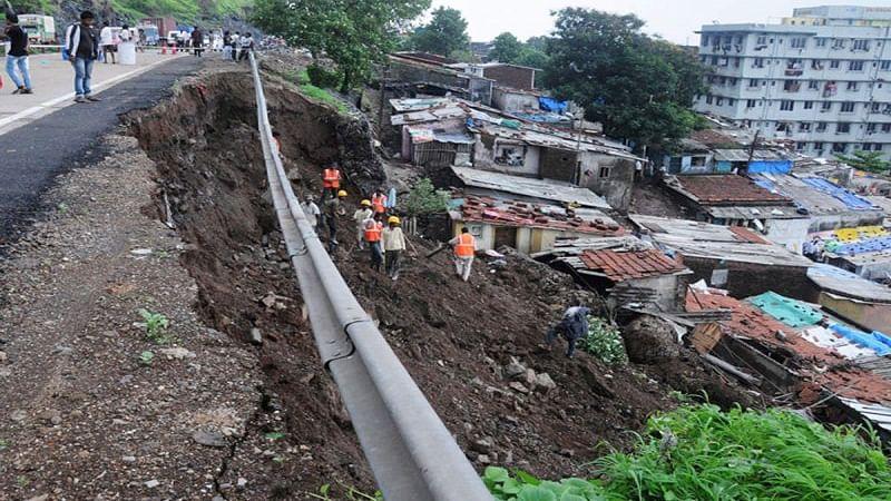 Maharashtra rains: Bridge washed away, Mumbra bypass road damaged in Thane