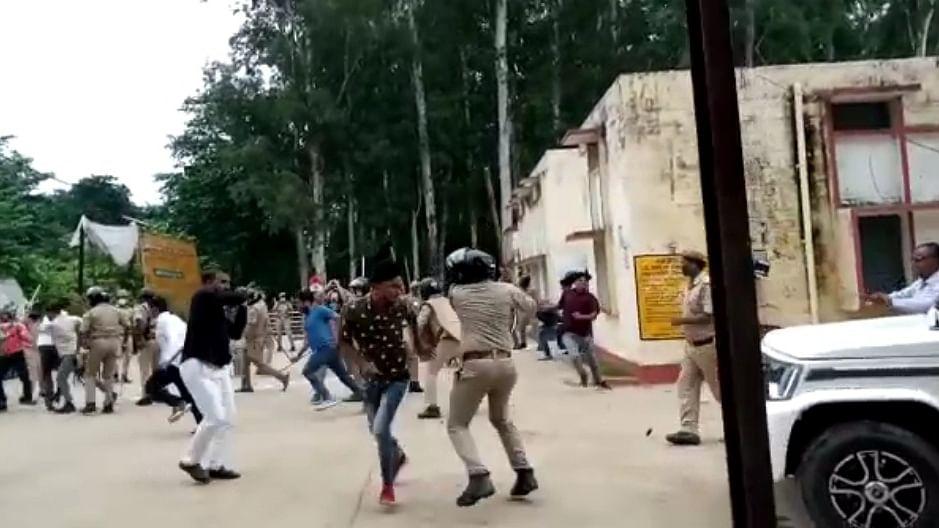 In Uttar Pradesh, bombs, clashes and violence mark filing nominations for Block Pramukhs