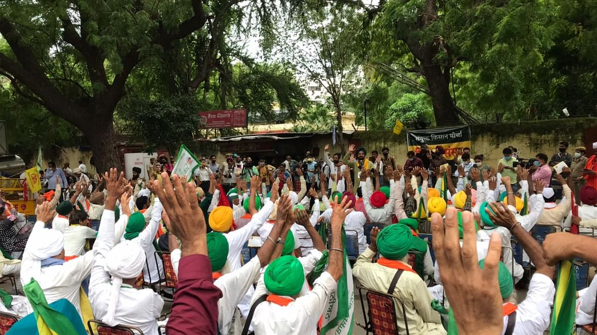 Sharp division among farmers' unions over whether to enter electoral politics in view of polls next year