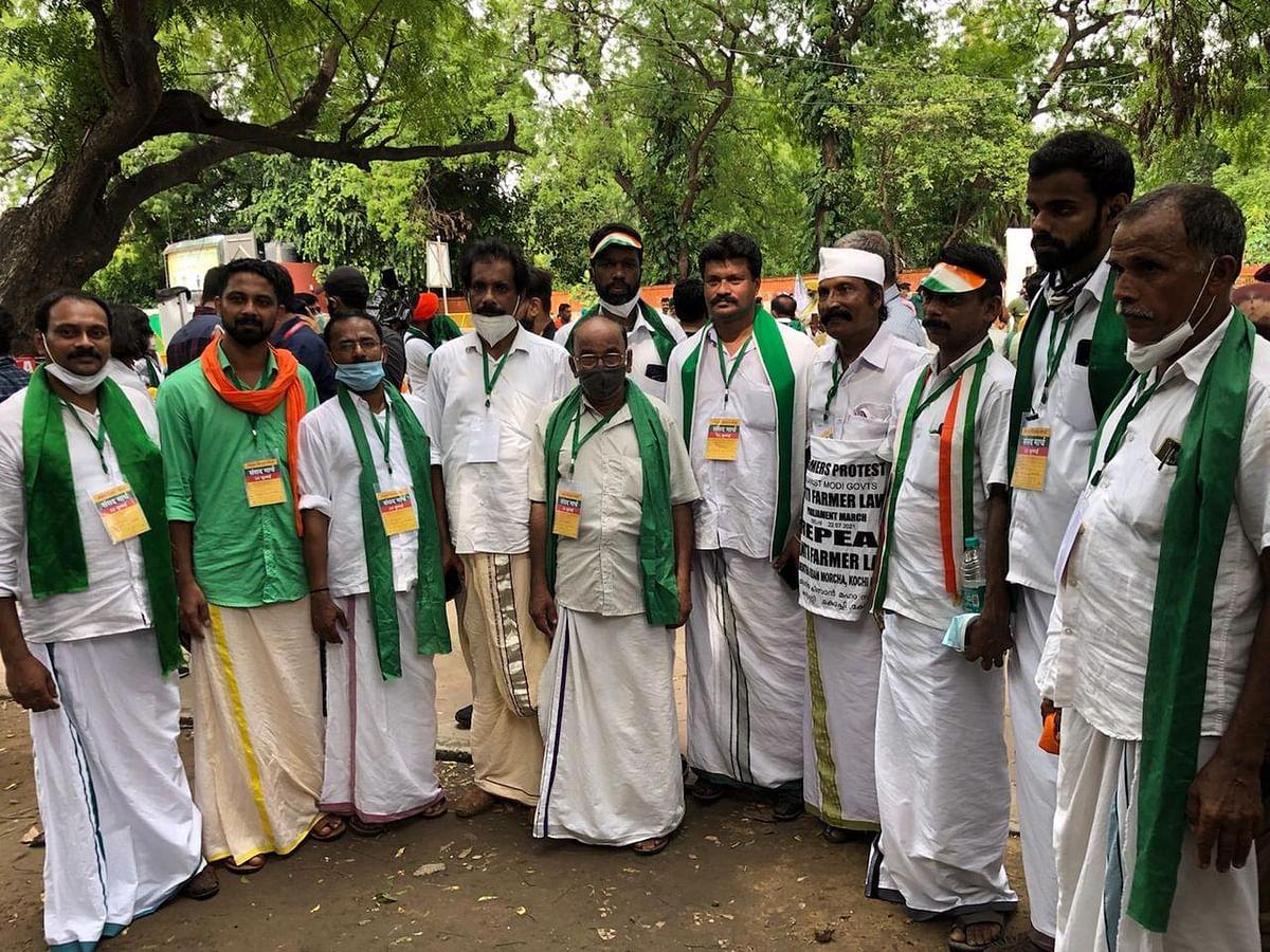 Farmers from Kerala at Kisan Sansad, Jantar Mantar