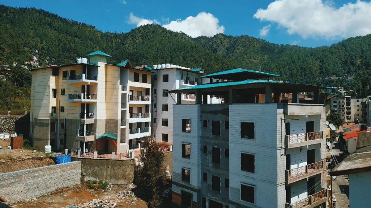 Construction activities in Nainital, one of U'Khand's most densely populated hill stations.