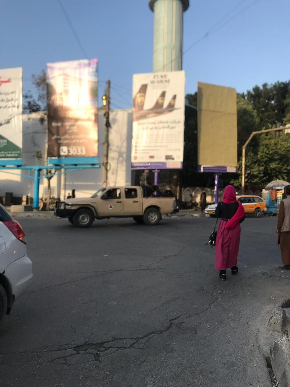 A street in Kabul after Taliban's takeover