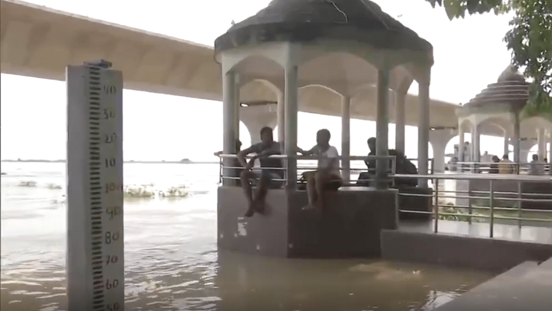 WATCH: Water level of Ganga River rises above danger level in Patna due to heavy rain