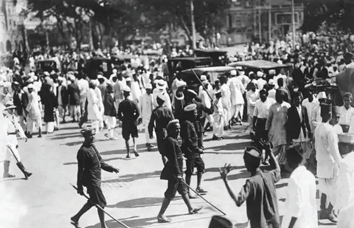 Public protest during Quit India Movement