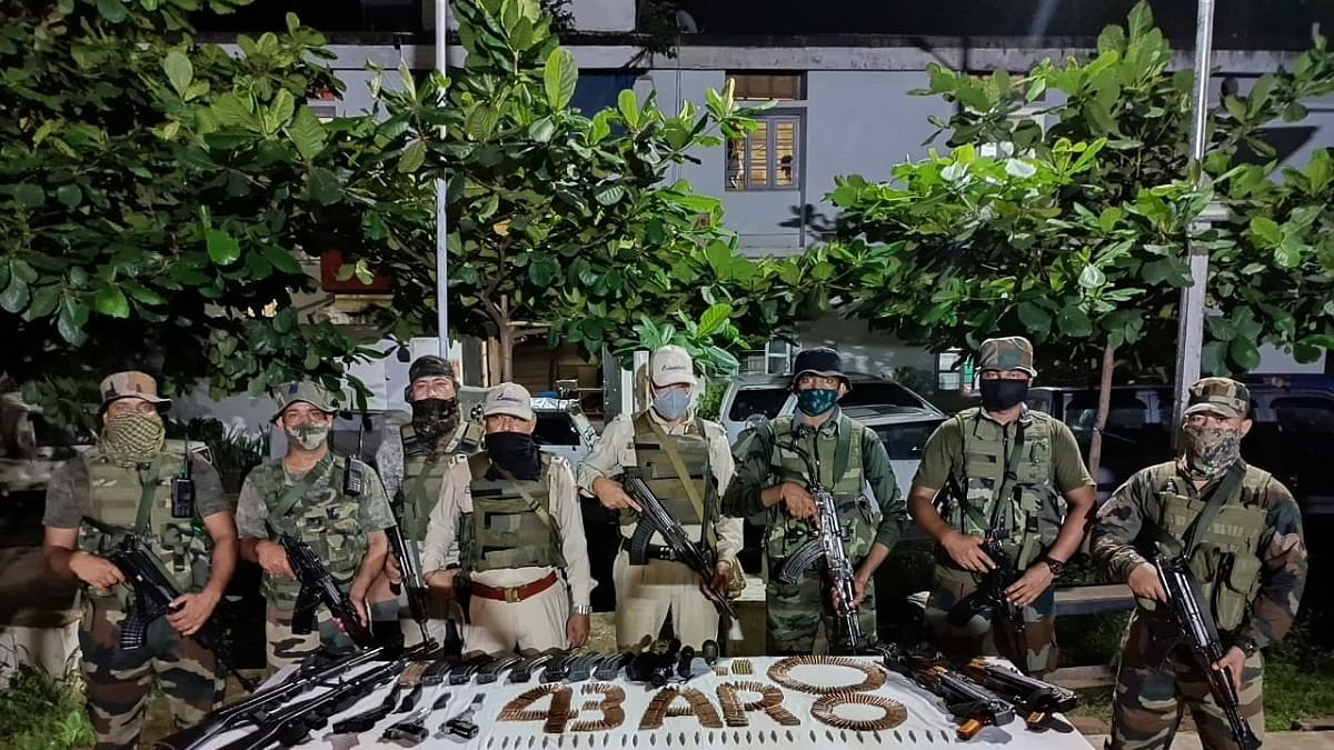 Huge cache of arms smuggled from Myanmar seized in Manipur