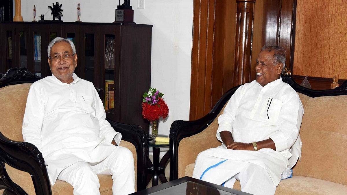Bihar Chief Minister Nitish Kumar and Jitan Ram Manjhi
