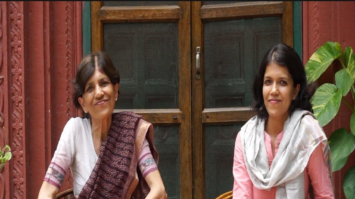 Irfana Majumdar with her mother Nita Kumar