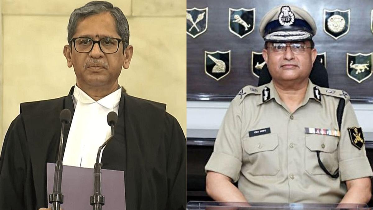CJI NV Ramana, Rakesh Asthana (Right)