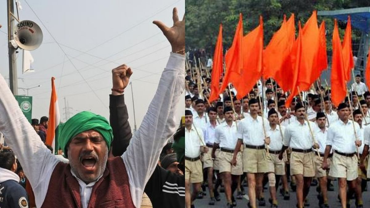 RSS on a mission to disparage the glory of peasant movements to propagate its communal agenda