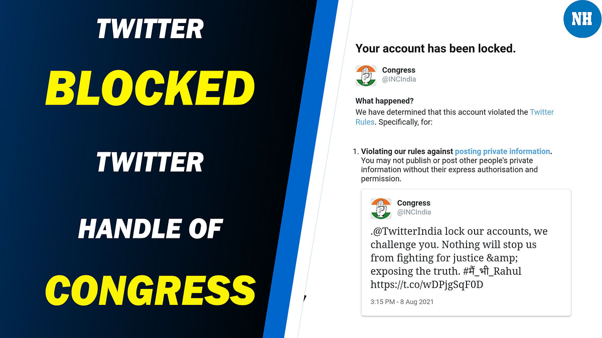 After the senior leaders' account now twitter locked Congress party's official handle