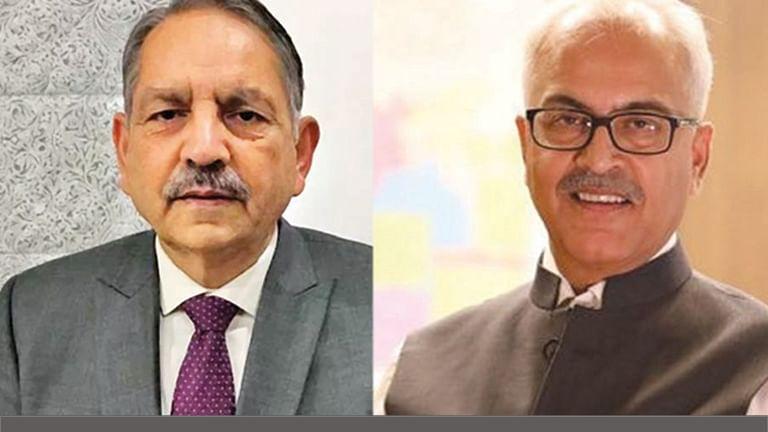 SK Mishra, Ajay Bhalla (right)