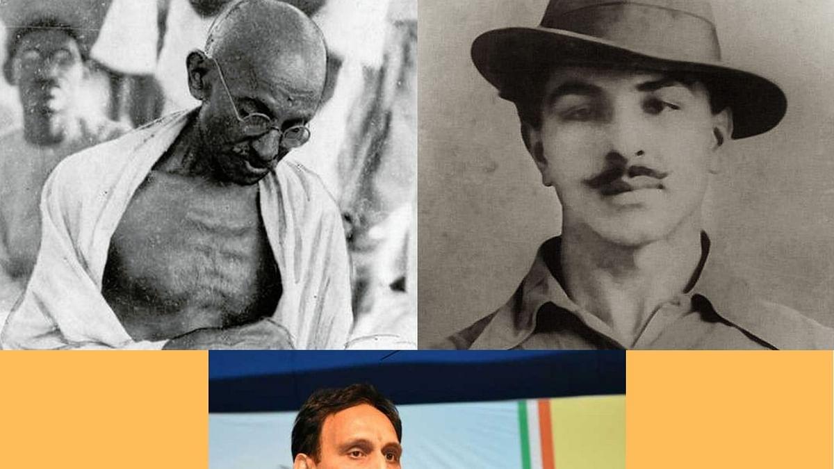 BJP MP Rakesh Sinha's lie that Gandhi kept silent on Bhagat Singh's hanging exposes rightwing aversion for him
