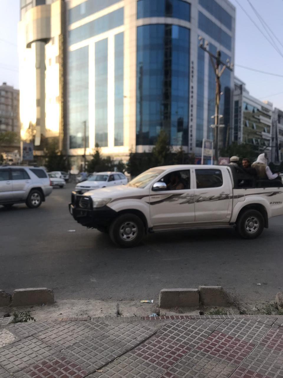 Taliban patrolling the streets of Kabul