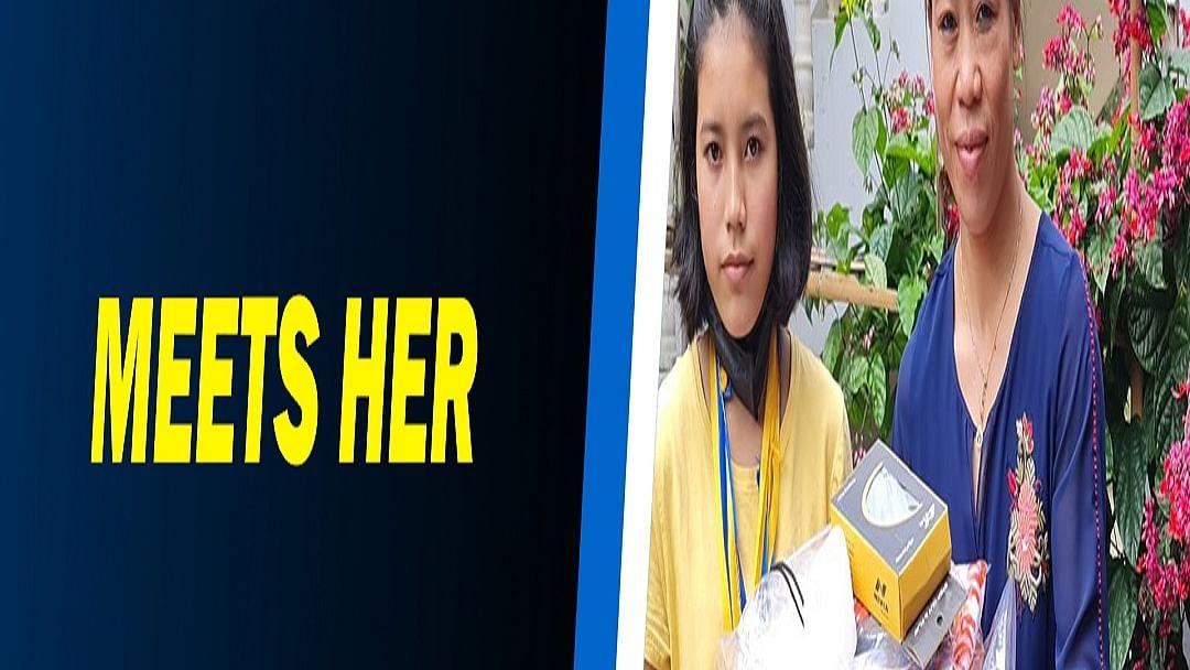 Mary Kom meets her diehard fan