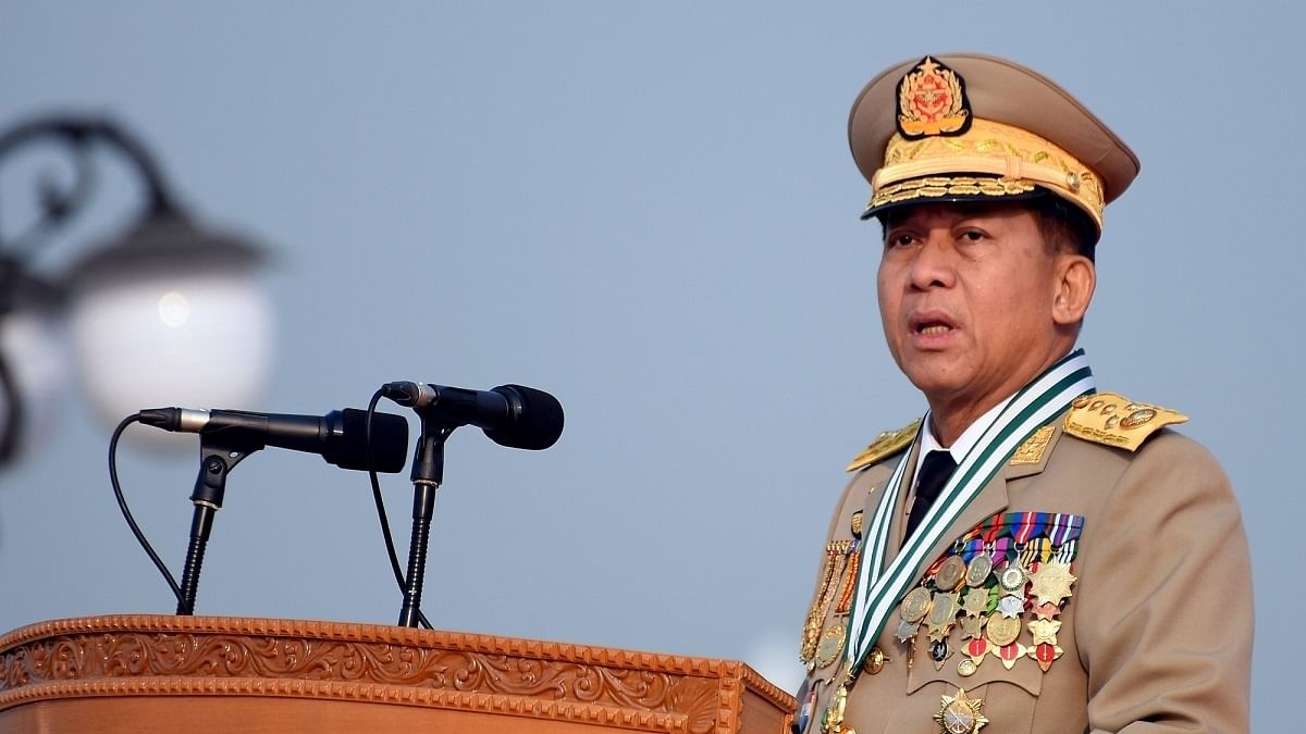 Commander-in-Chief of Defense Services Sen-Gen Min Aung Hlaing  (Photo Courtesy: IANS)