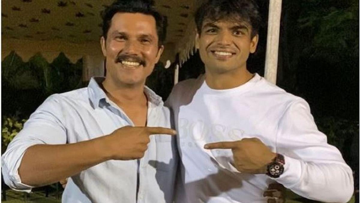 Finally! Randeep Hooda and gold medalist olympian Neeraj Chopra come together