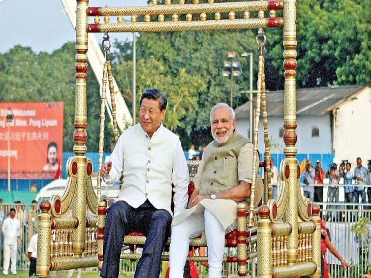 PM Modi with China President Xi Jin Ping