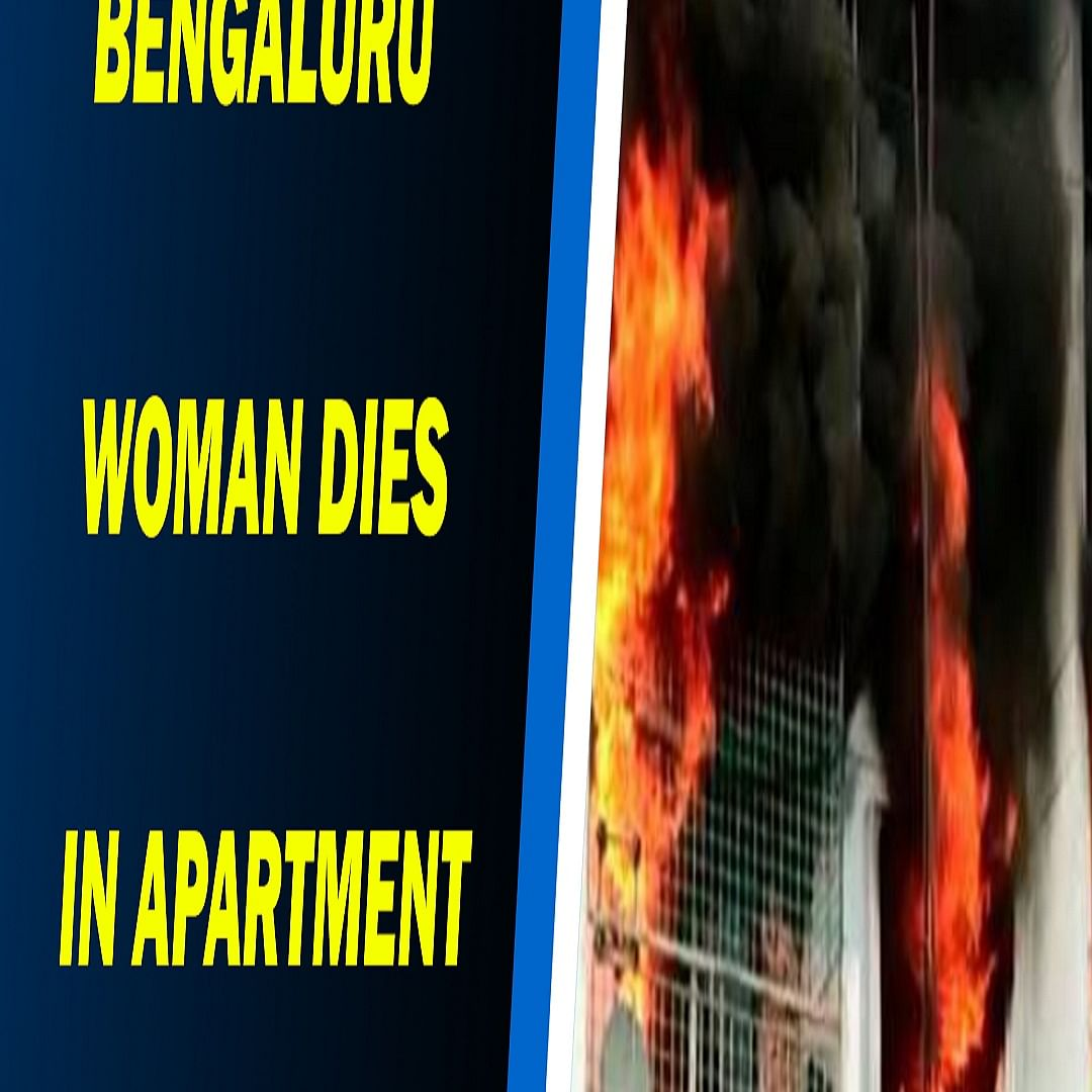 Bengaluru woman dies in apartment fire, horrific video shows her trapped