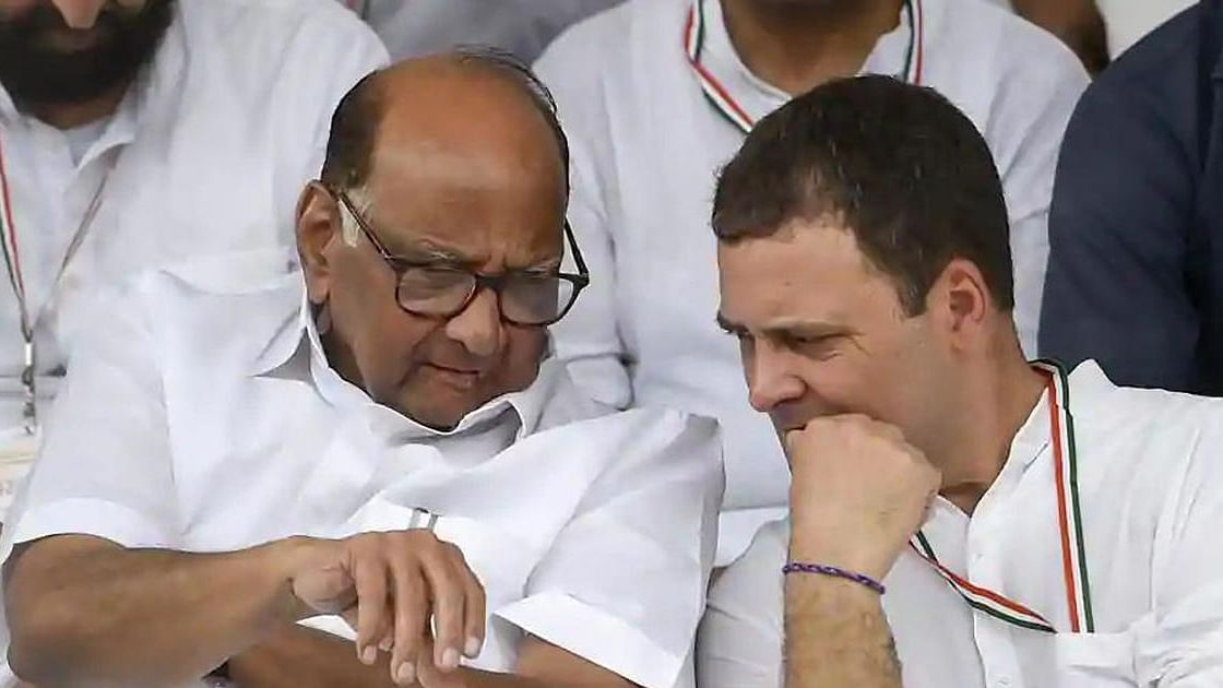 Sharad Pawar and Rahul Gandhi