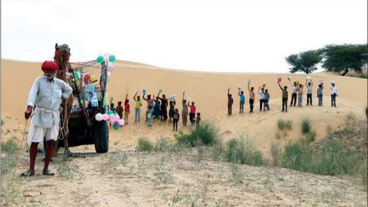 Camels take books to children in the desert