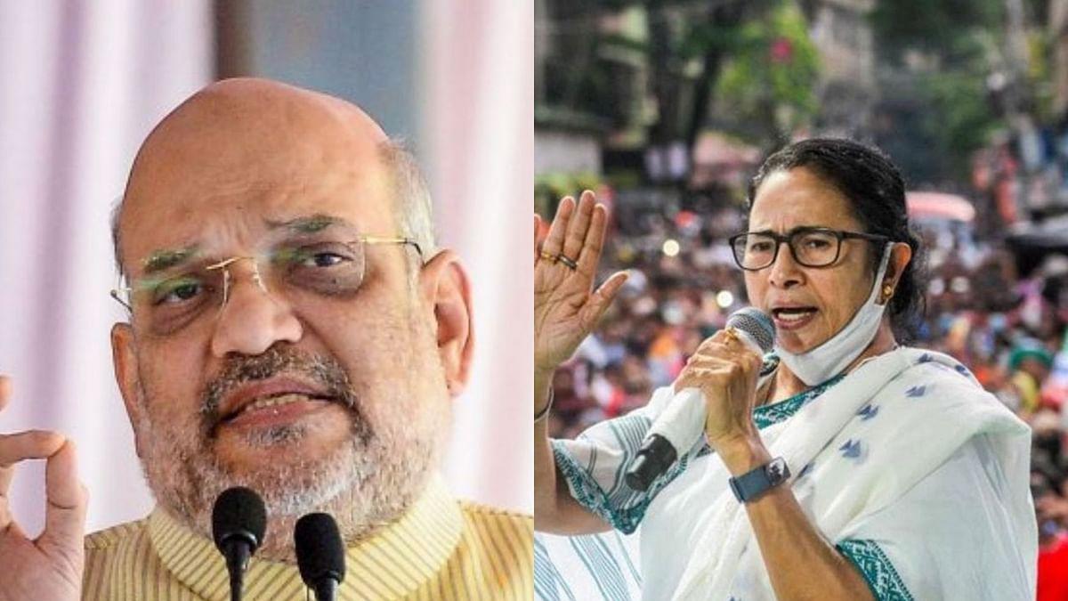 Amith Shah (Left) Mamata Banerjee (Right)