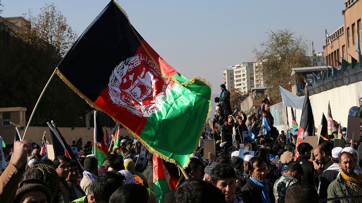 Taliban fire gunshots in the air to disperse rally in support of Massoud chanting 'Death to Pakistan'