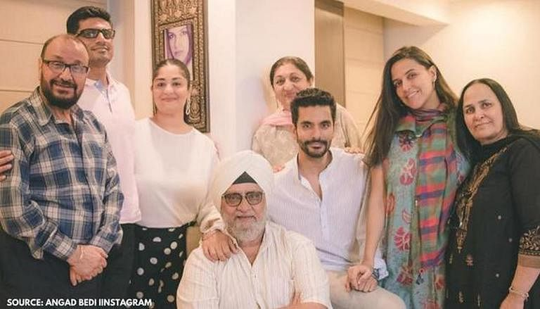Bishan Singh Bedi (centre) with his family