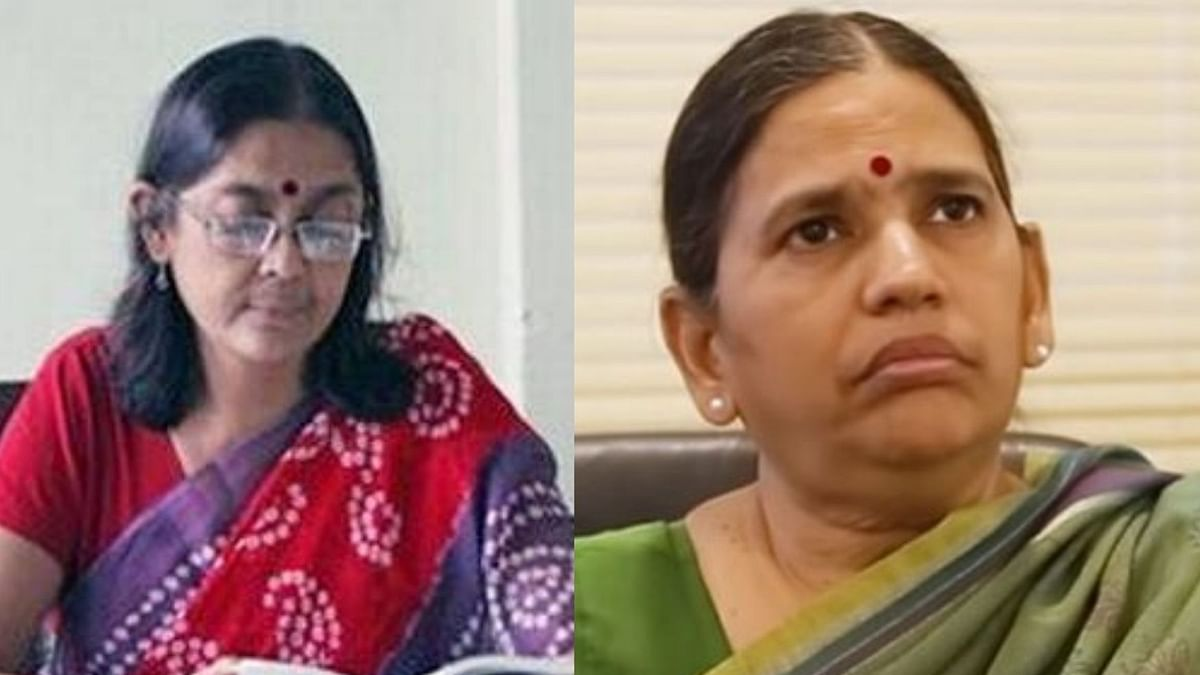 Shoma Sen (Left) Sudha Bharadwaj (Right)