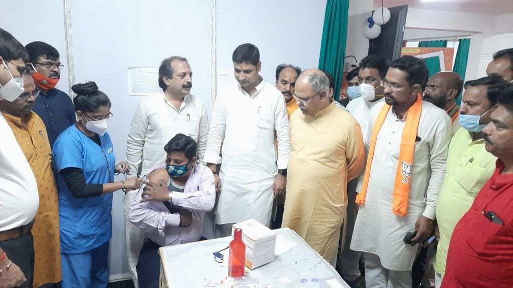 A mass vaccination camp in Bhopal, Madhya Pradesh, on Sep 17