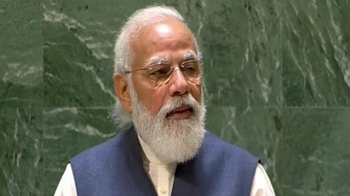 PM Narendra Modi addressing  UN General Assembly (Photo: Twitter)