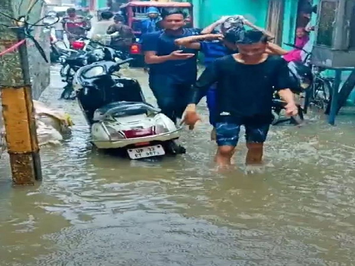 Lucknow lanes witness rare waterlogging and flooding in September