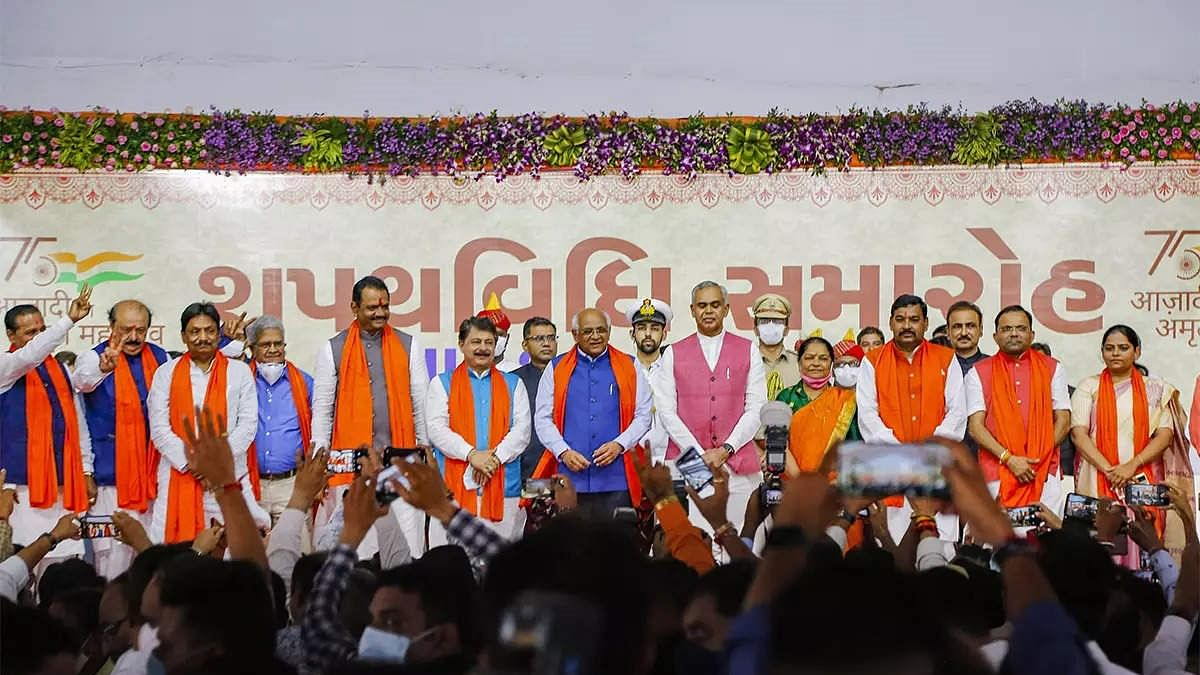 Gujarat: 24 ministers sworn in; not a single induction from Rupani-led ministry