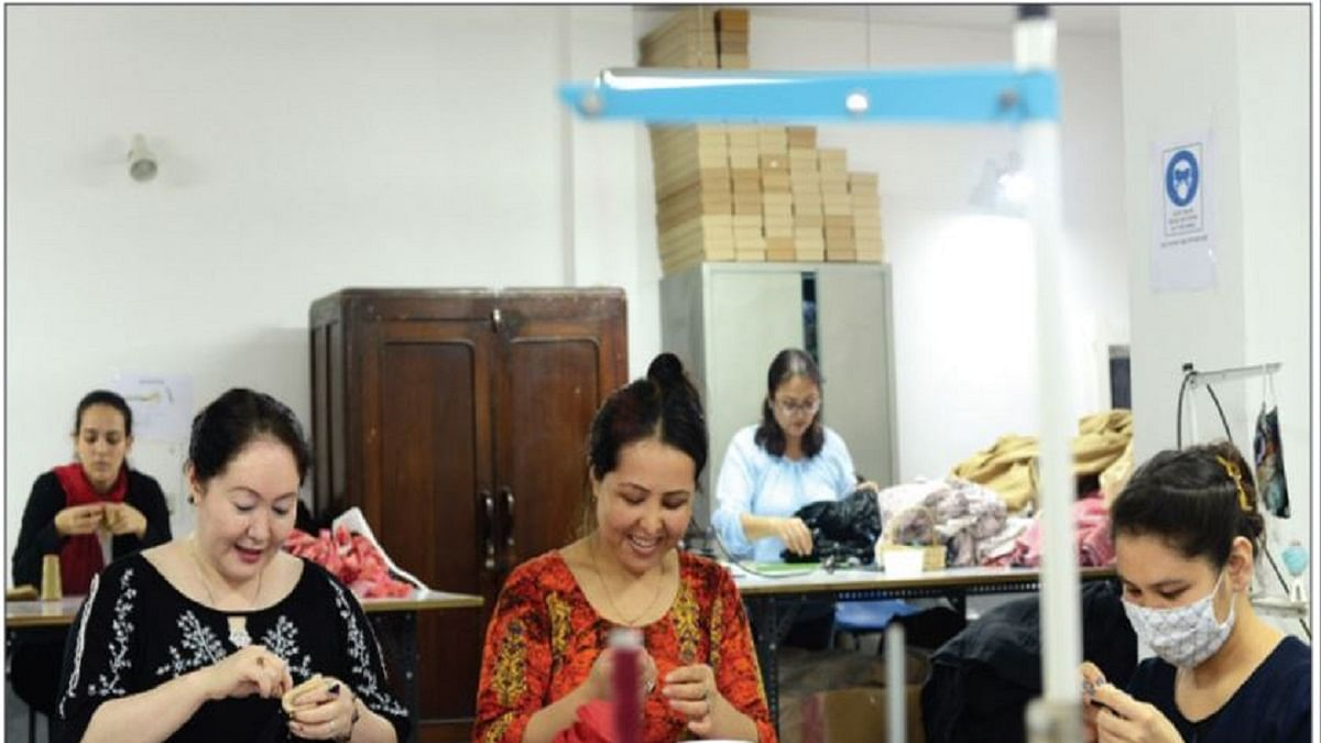 Afghan refugee women in New Delhi stitching their way to freedom