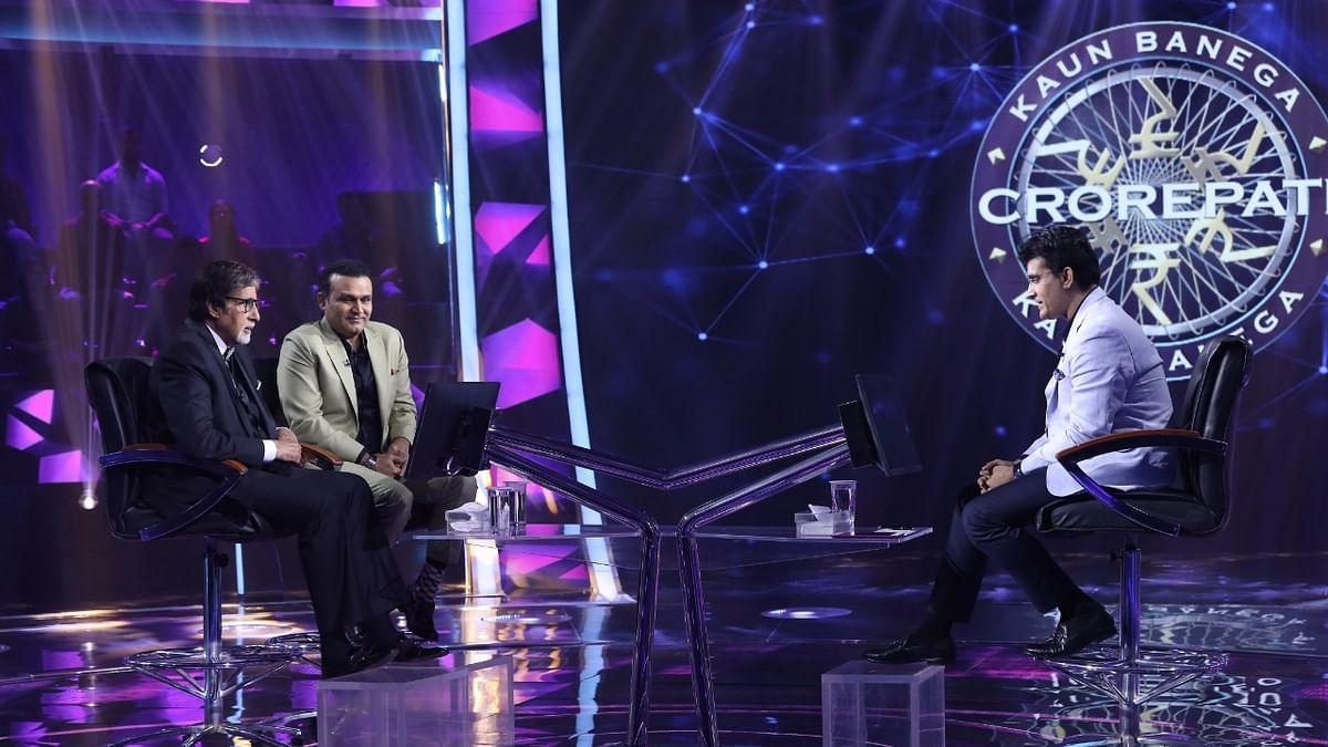 Big B tells Sourav how he sang National Anthem before India-Pak WC Match