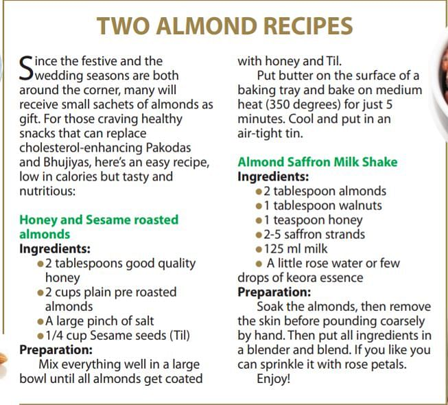 Food Katha: If winter comes, can almonds be far behind?