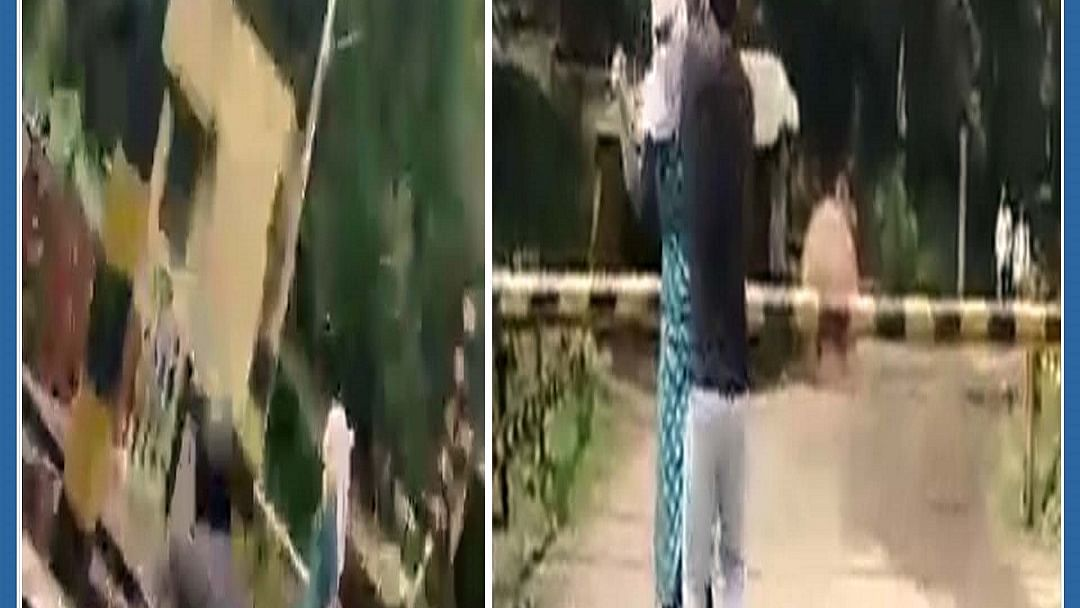 WATCH: MP woman attempts to end life by standing on rail tracks, brave auto driver saves her